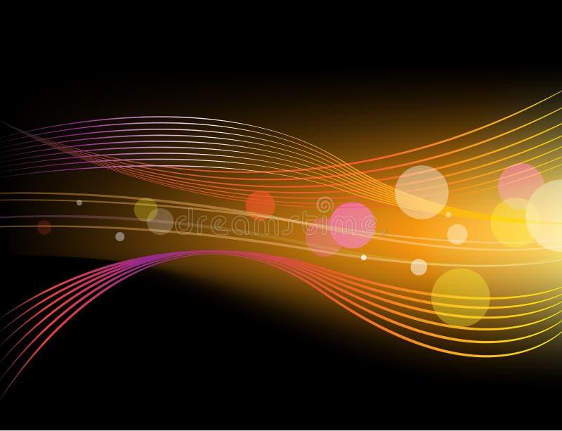 Vector shiny abstract horizontal background vector illustration