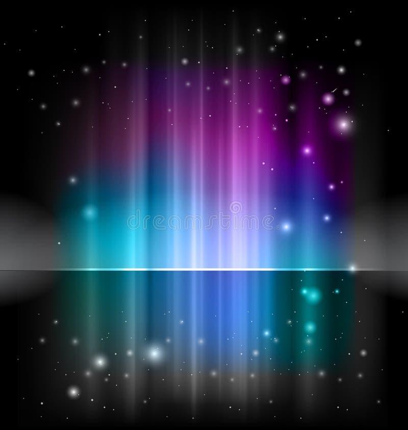 Vector shiny background. In blue, black, violet colours