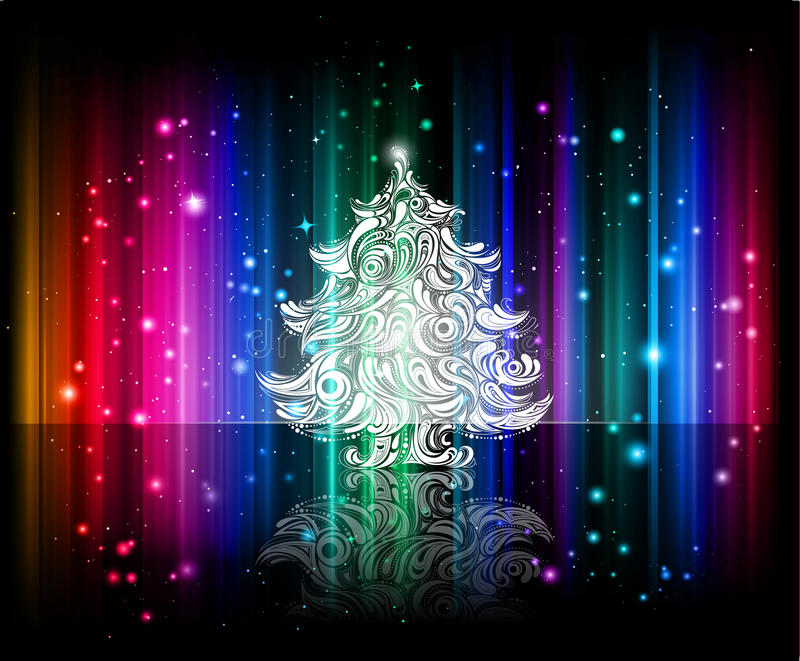 Vector shiny christmas background royalty free illustration
