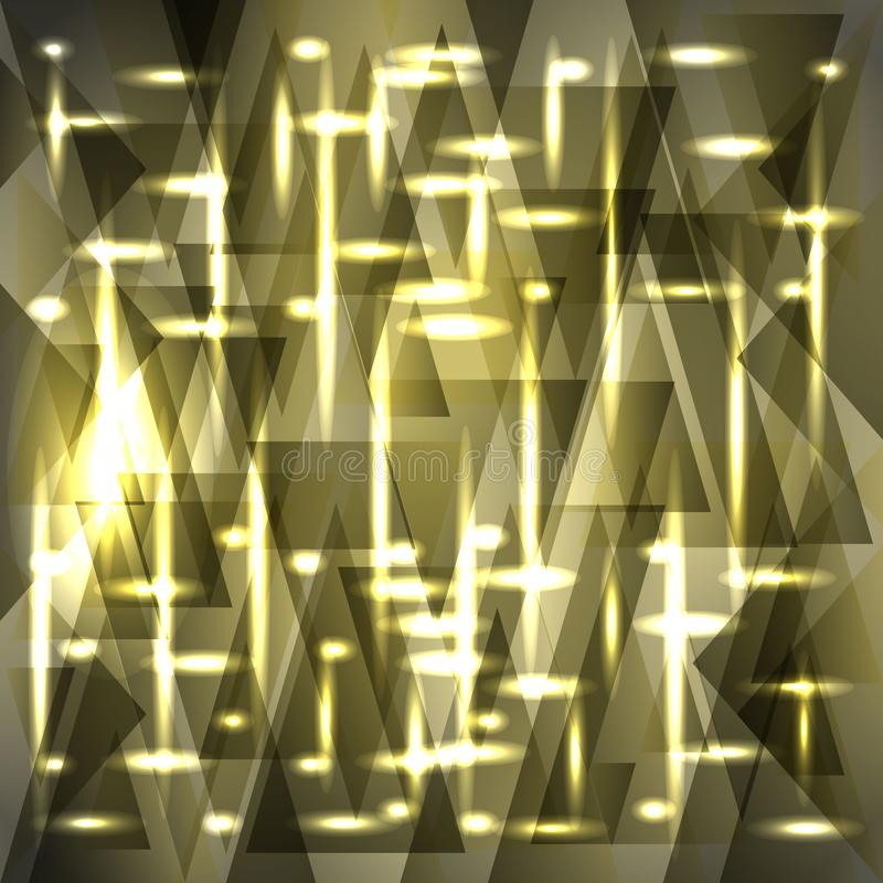 Vector shiny delicate ash color pattern of shards and stripes. For decoration of festive objects, paper and fabric stock illustration
