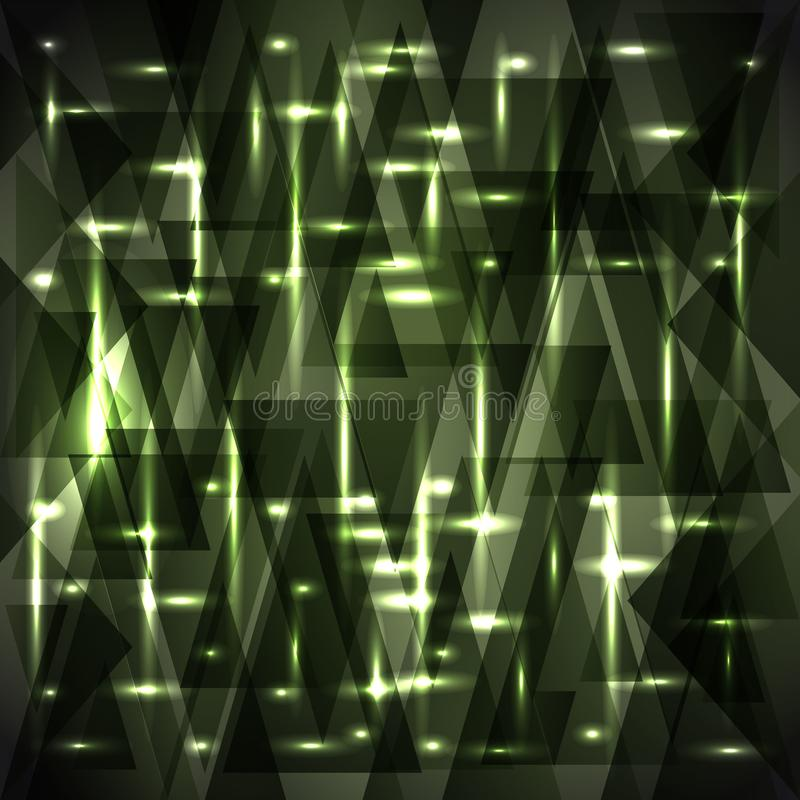 Vector shiny gentle swamp green color pattern of shards and stripes. For decoration of festive objects, paper and fabric royalty free illustration