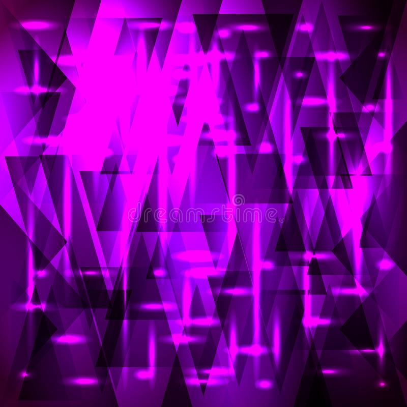 Vector shiny purple pattern of shards and triangles with stars royalty free illustration