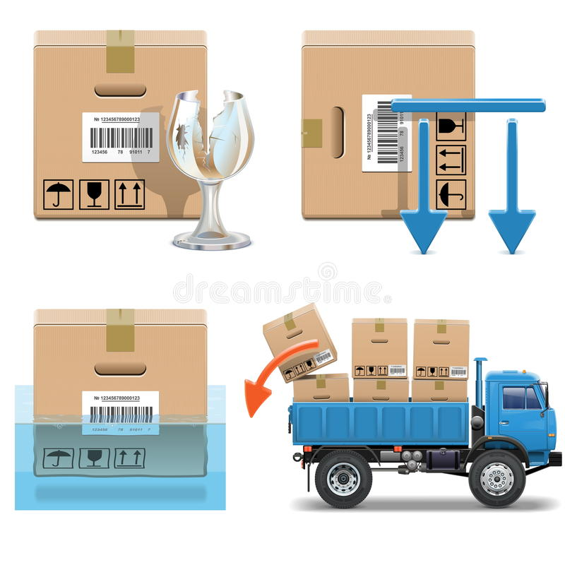 Free Vector Shipment Icons Set 31 Stock Images - 40138774