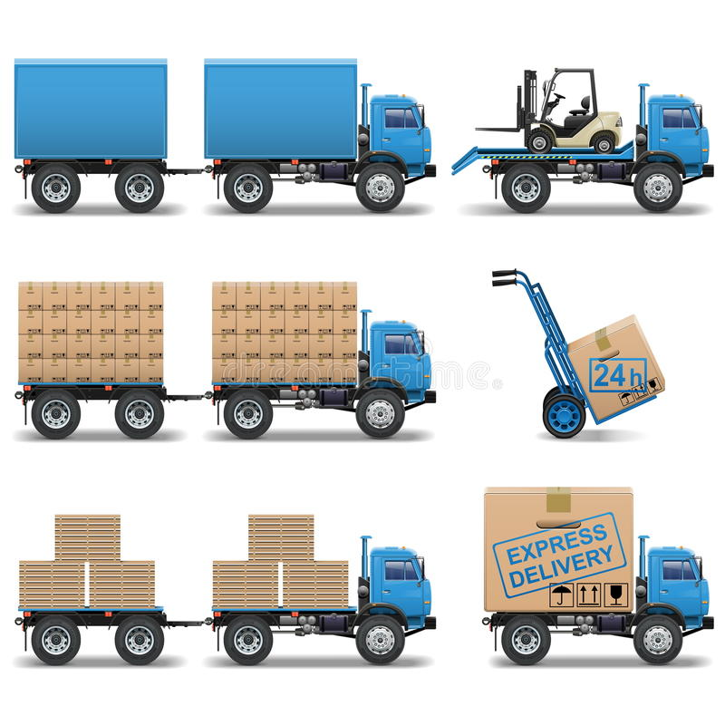 Free Vector Shipment Icons Set 5 Royalty Free Stock Photography - 32810947