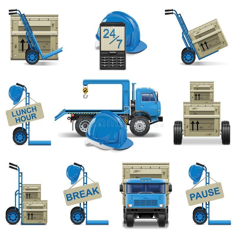 Download Vector Shipment Icons Set 6 Stock Vector - Illustration: 33150396