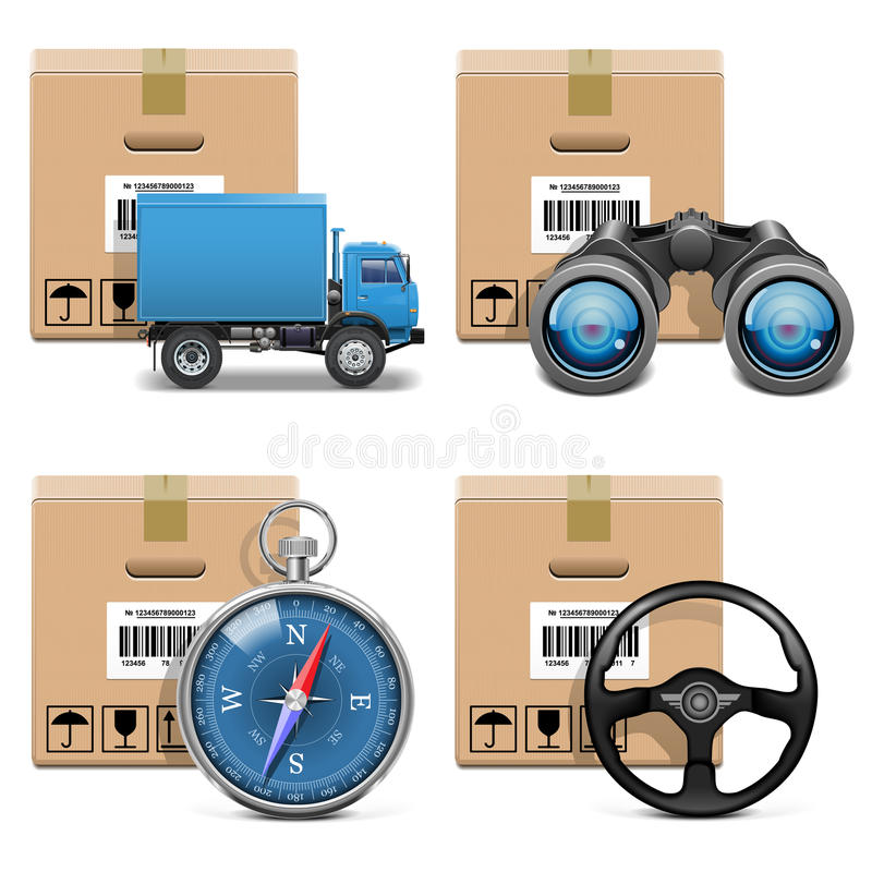 Download Vector Shipment Icons Set 11 Stock Illustration - Image: 34094263