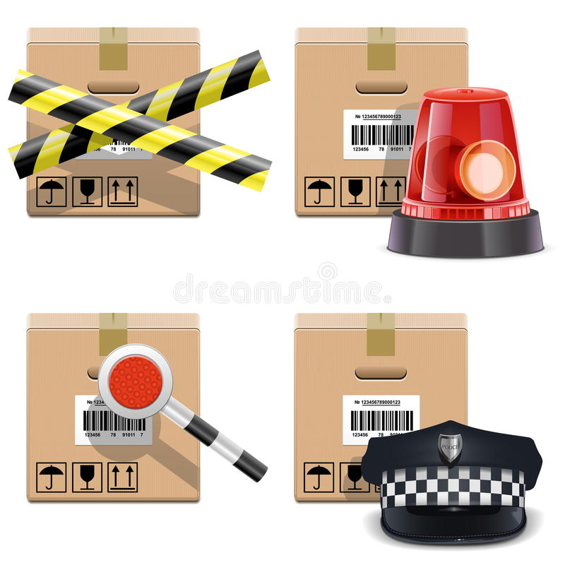 Download Vector Shipment Icons Set 25 Stock Vector - Image: 36722186