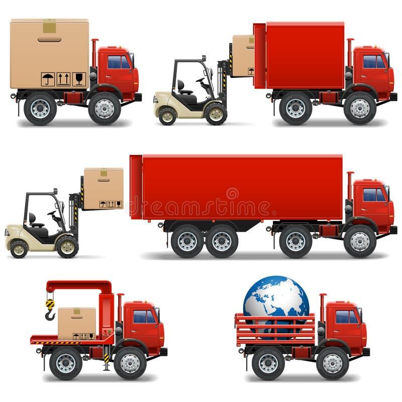 Vector Shipment Icons Set 34 royalty free stock photos