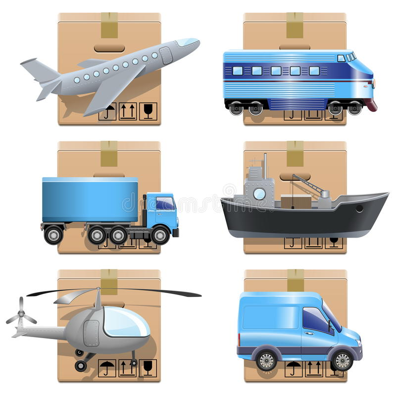 Download Vector shipment icons stock vector. Illustration of helicopter - 31356110