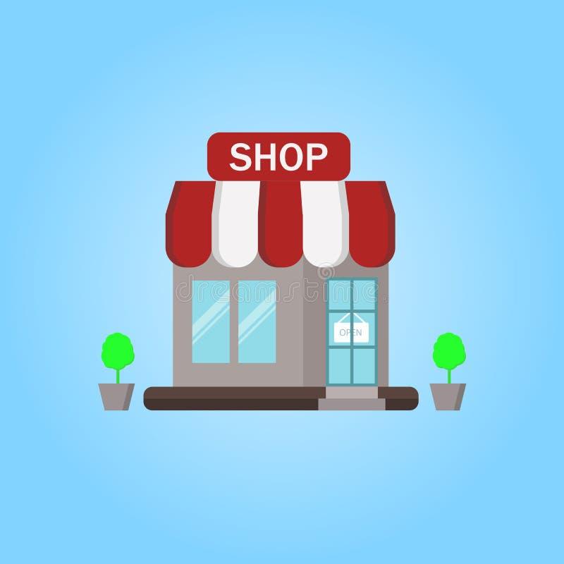 Vector Shop, Illustratie, Pictogram, Achtergrond stock illustratie