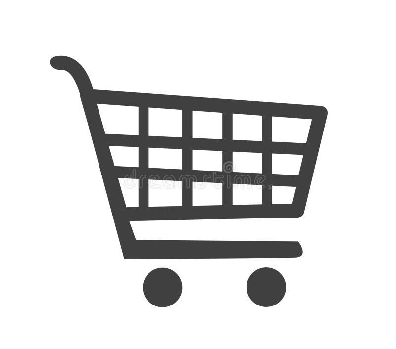 Vector shopping cart icon vector illustration