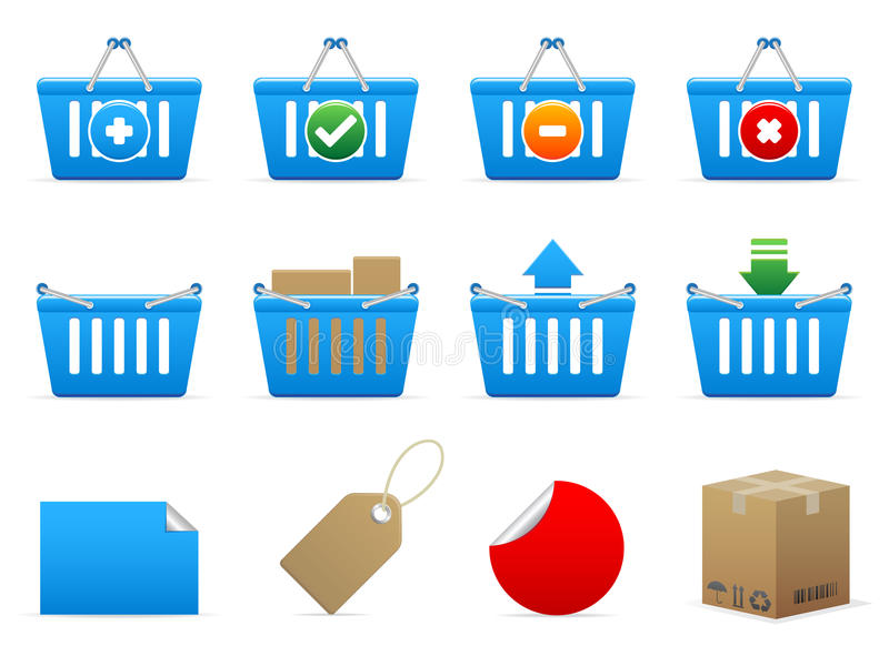 Download Vector shopping icons stock vector. Illustration of package - 13212561
