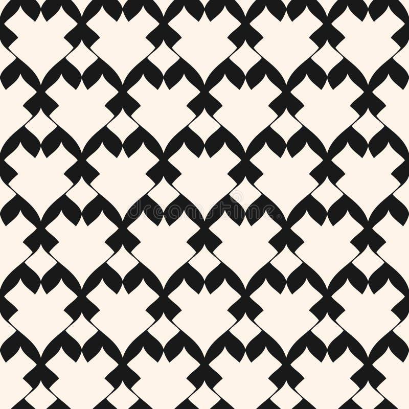 Vector sier naadloos patroon Zwart-wit geometrische orienta vector illustratie