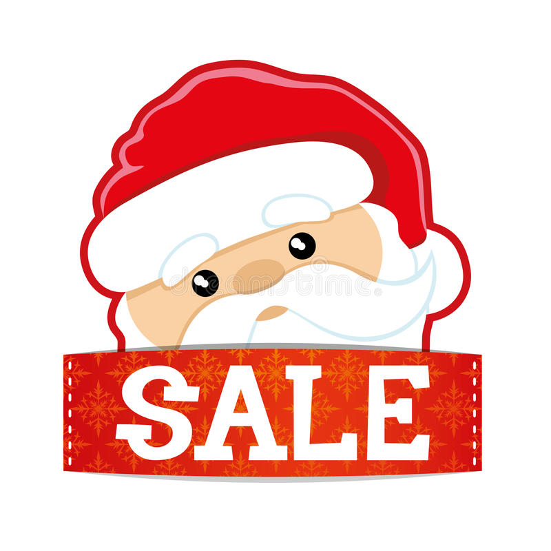 Vector sign. Christmas sale. royalty free illustration
