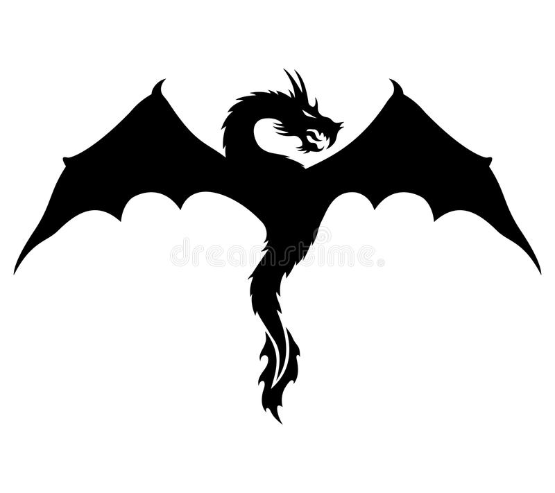 Vector sign. Dragon. Vector sign isolated on white background. Dragon stock illustration