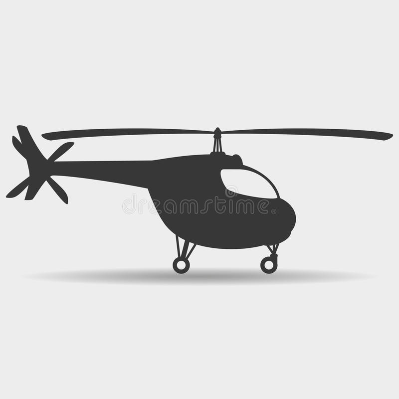 Vector sign. Helicopter. royalty free illustration