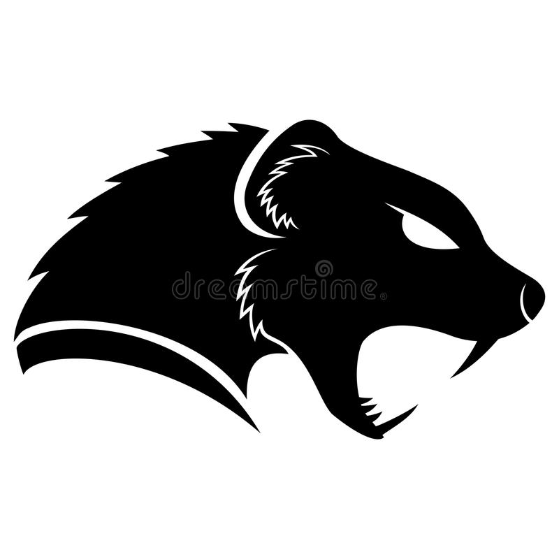 Vector sign. Mongoose. Vector sign isolated on white background. Mongoose royalty free illustration