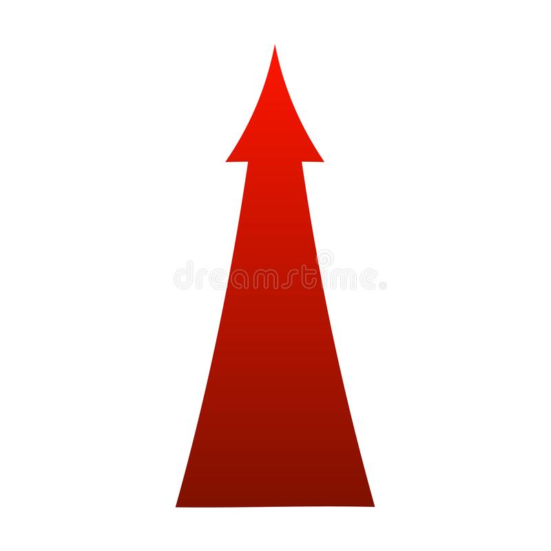 Vector sign red arrow up illustration isolated on white background royalty free illustration