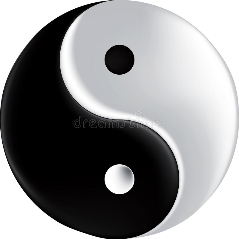 Vector sign ying yang mesh vector illustration