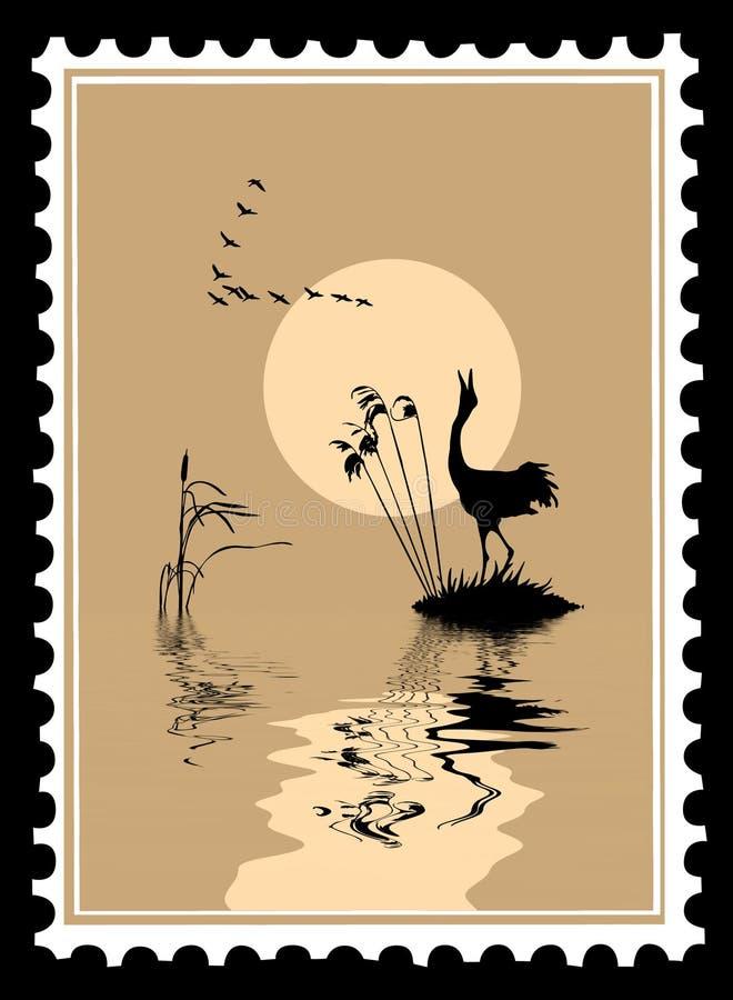 Vector silhouet van de vogels stock illustratie