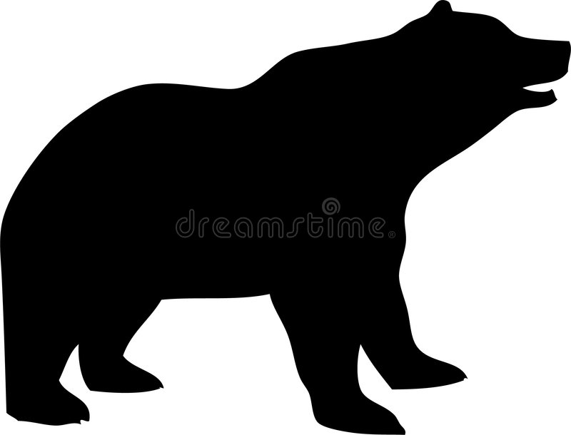 Vector Silhouette of a Bear royalty free illustration