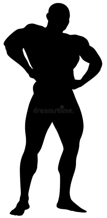 Download Vector Silhouette Bodybuilder Stock Vector - Image: 5080529