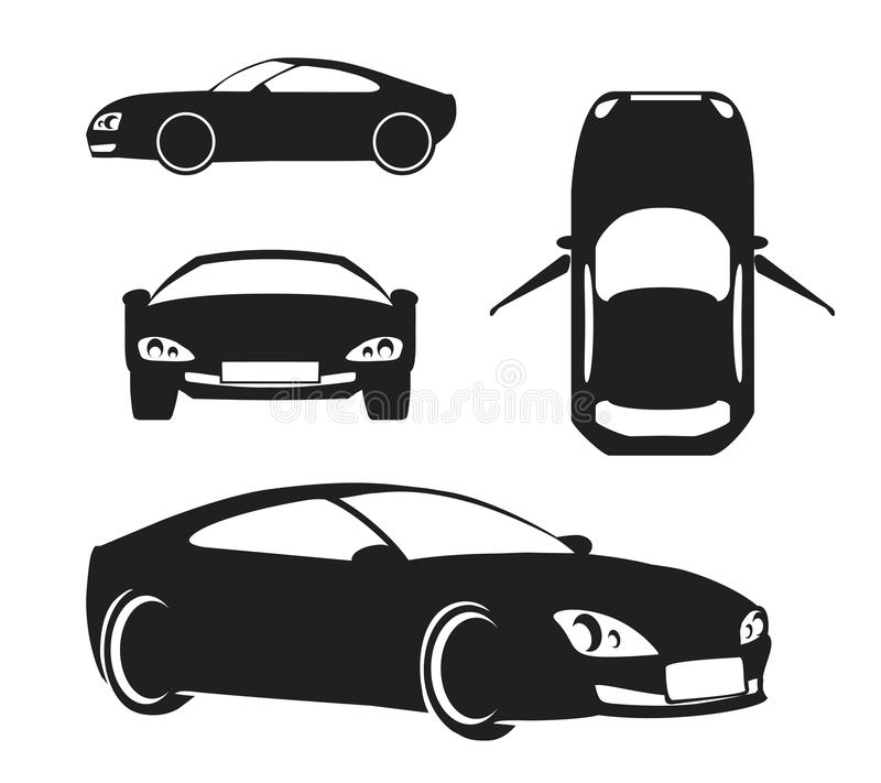Free Vector Silhouette Car Isolated On White Royalty Free Stock Photography - 47983877