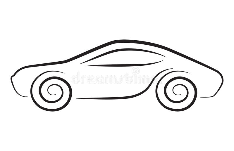 Vector silhouette of conceptual car royalty free illustration