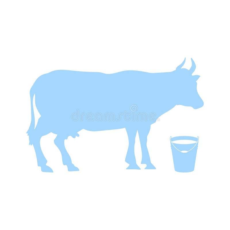 Vector silhouette of cows royalty free illustration