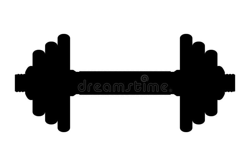 vector silhouette of dumbbell stock vector illustration barbell clipart black barbell clipart black