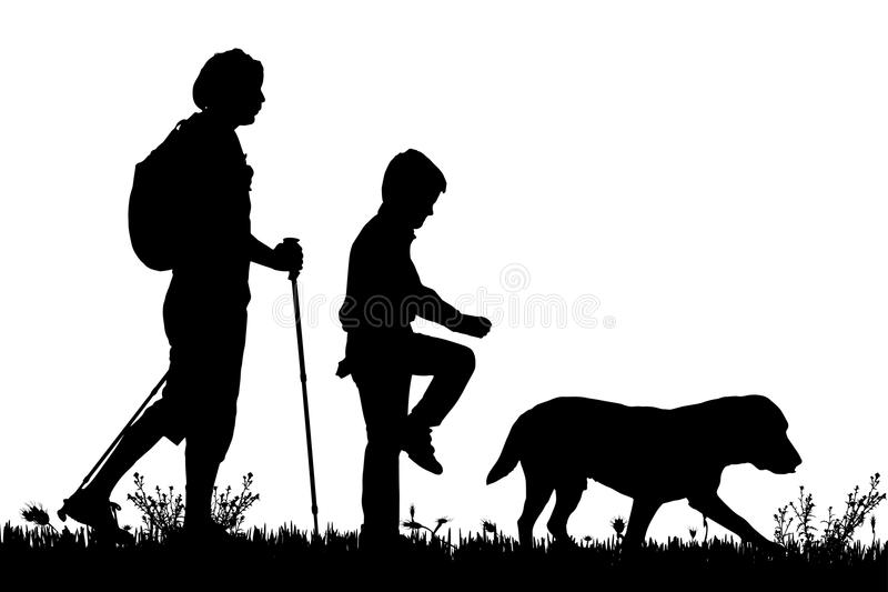 Vector silhouette of the family. vector illustration