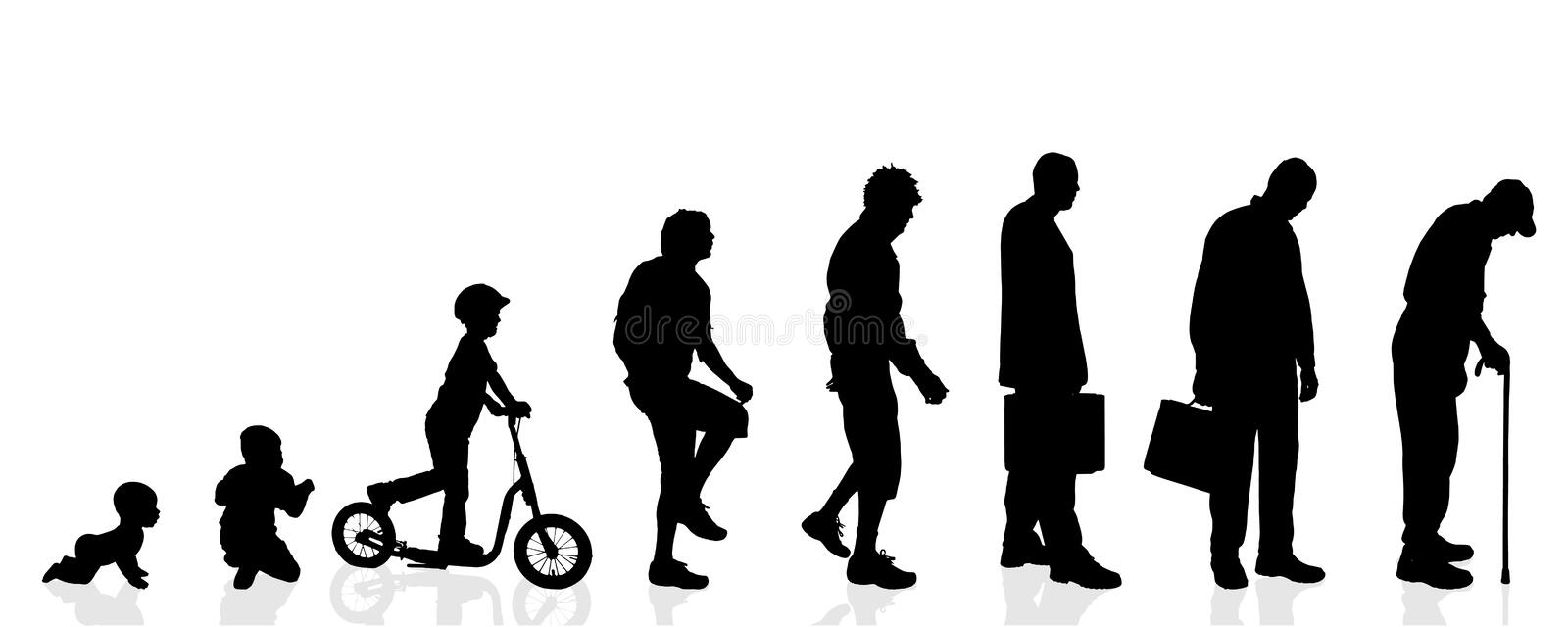 Vector silhouette generation men. royalty free illustration