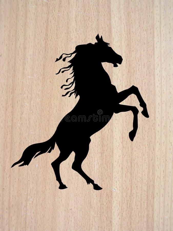 Vector silhouette horse royalty free stock photos