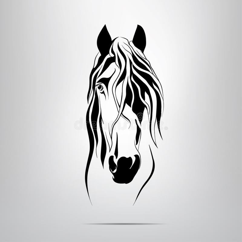Download Vector Silhouette Of A Horse's Head Stock Illustration - Image: 37679243