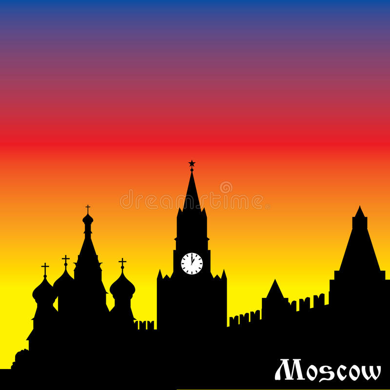 Download Moscow silhouette stock image. Image of monuments, landmark - 30063883
