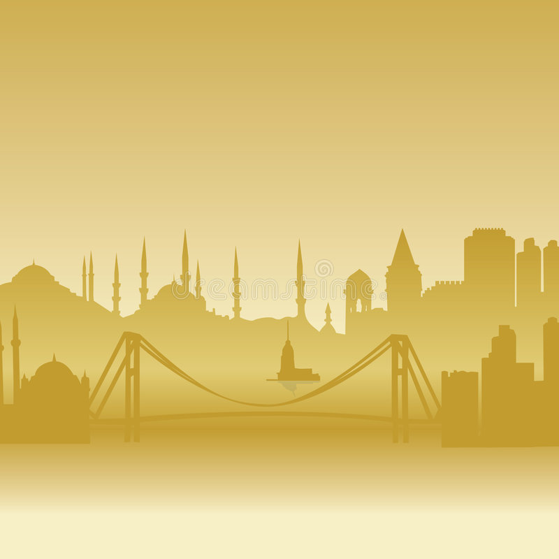 Download Vector Silhouette Of Istanbul Stock Vector - Illustration of castle, buildings: 6816926
