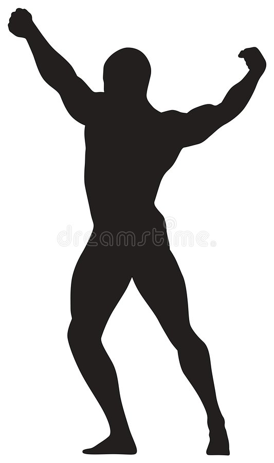 Vector silhouette man vector illustration