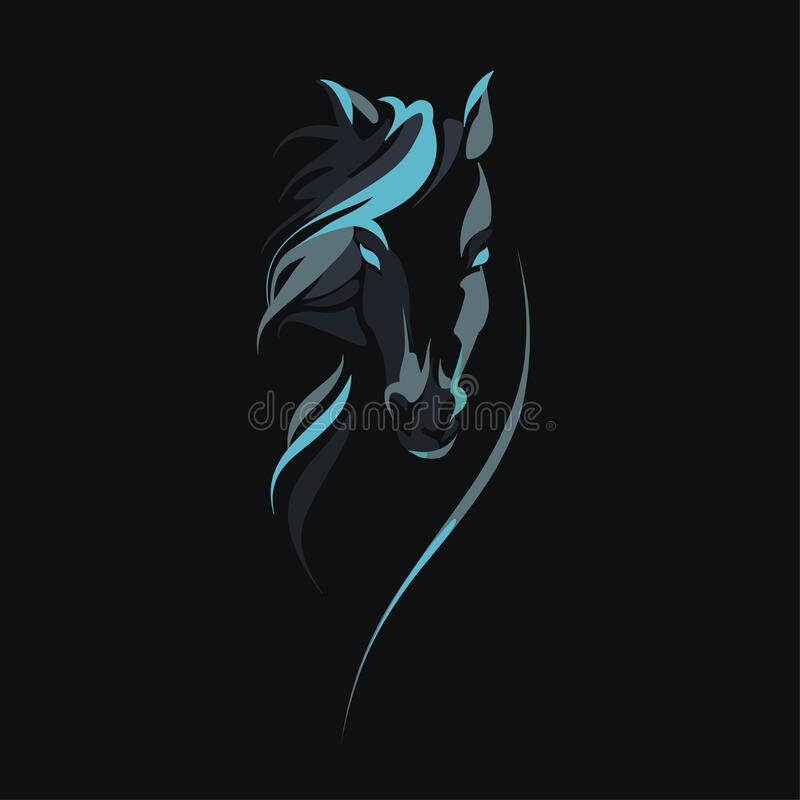 Free Vector Silhouette Of A Horse`s Head Royalty Free Stock Photography - 186428717