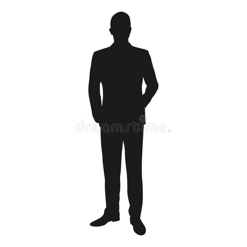 Free Vector Silhouette Of A Man Standing In A Suit Stock Image - 70828671