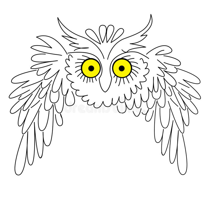 Vector silhouette owl