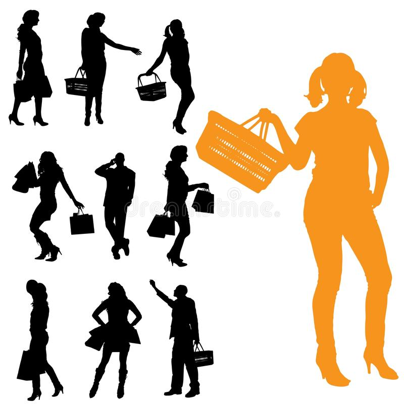 Vector silhouette of a people. royalty free illustration