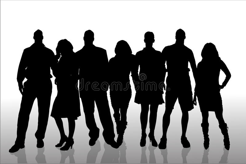 Vector silhouette of a people. vector illustration