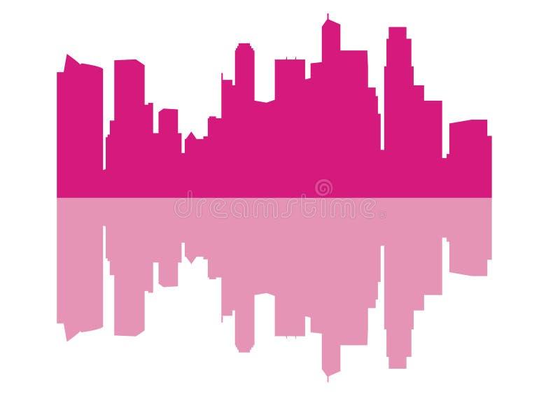 Silhouette of Skyline Singapore City royalty free illustration