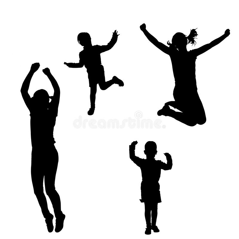 Vector silhouette of a woman with a child. Vector silhouette of a woman with a child by practicing royalty free illustration
