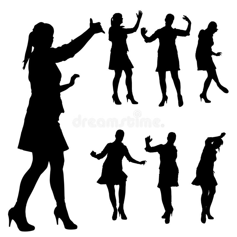 Vector silhouette of a woman. Vector silhouette of a woman on a white background royalty free illustration