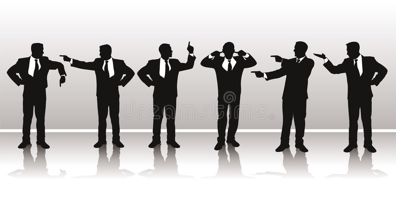 Download Vector Silhouettes Of Business Stock Photos - Image: 2461313