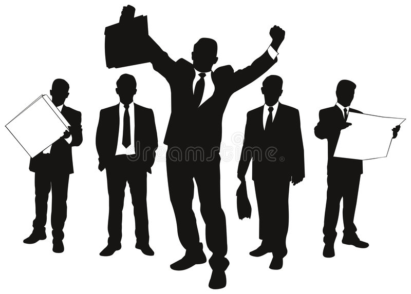 Vector silhouettes of business vector illustration