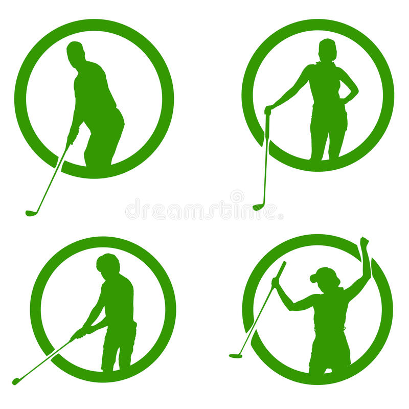 Vector silhouettes of golf. vector illustration