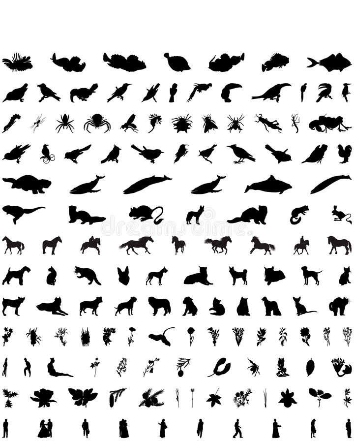 Download Vector Silhouettes Set. Set # 6 Stock Vector - Image: 10406019