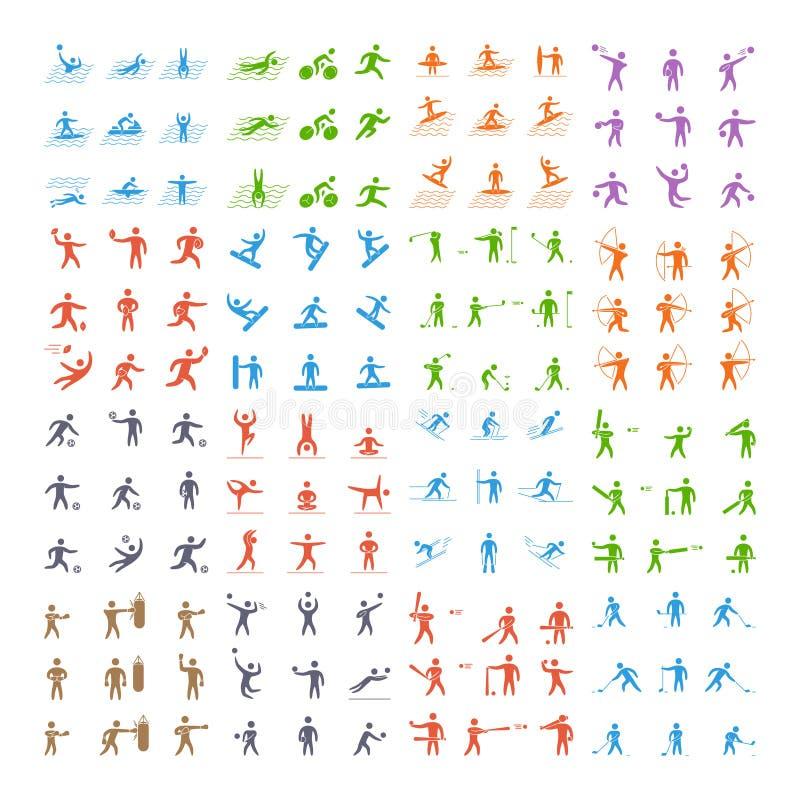 Vector silhouettes sportsmen sports. vector illustration